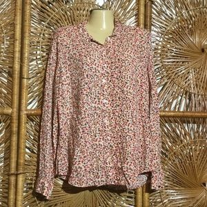Philosophy women blouse red size Large Long Sleeve
